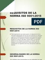 REQUISITOS DE LA NORMA ISO 9001 ACTIVIDAD ultima actividad