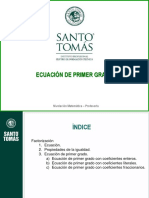 PPT Ecuación de Primer Grado