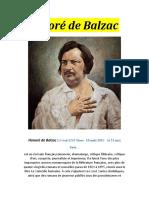 Information sur Honoré de Balzac