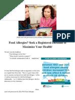 Food Allergy Blog Post