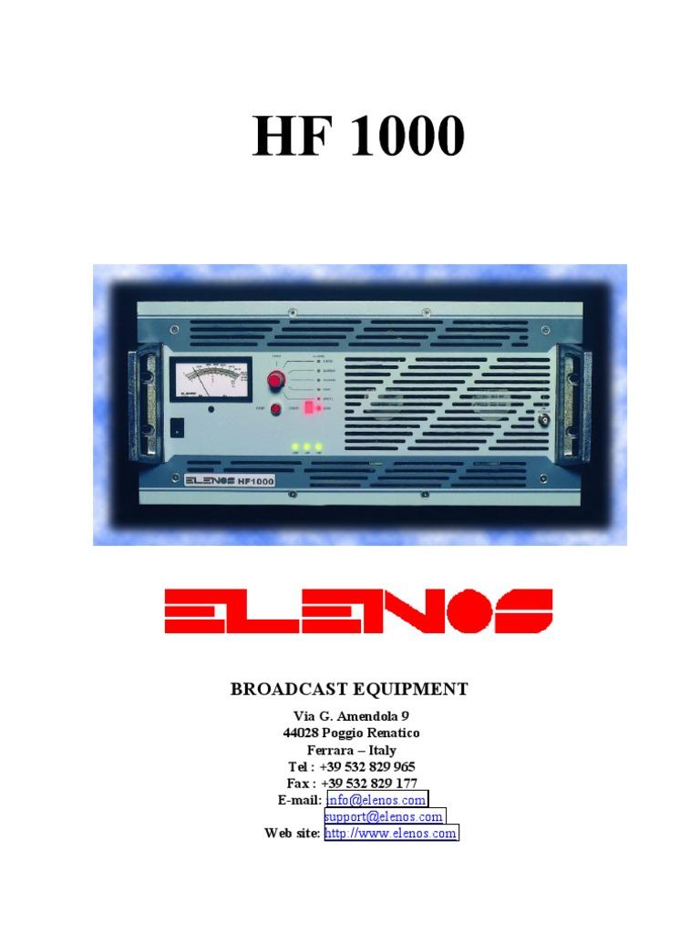 Hf1000uk 3pdf Elenos Power Supply Amplifier Rr3 Ge Relay Wiring Diagram