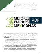 Firmas del transporte y logística destacan entre las Mejores Empresas Mexicanas