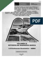 VOL III - 3.8 EVALUACION ECONOMICA - HDM4