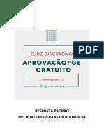 Quiz Aprovação PGE Melhores Respostas Da Rodada 04