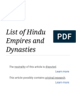 List of Hindu Empires and Dynasties - Wikipedia