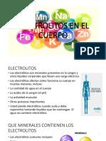 Electrolitos en El Cuerpo