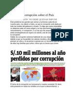 La Corrupción Sobre El País