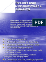 PROIECTAREA UNUI PROGRAM DE PROMOVARE A SANATATII(3).ppt
