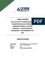 Aplicativo VTP Manual de Usuario de la Extranet - COES