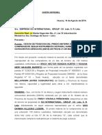 Carta Notarial de Erick