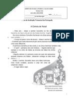 Ficha avaliação português 2 º ano