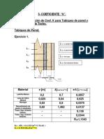 Coeficiente de conductividad térmica ejercicios