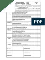 Check List Maquinaria