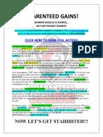 Guaranteed Gains MuscularStrength FREE PROGRAM