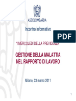Federico Binik - Gestione della malattia nel rapporto di lavoro (1)