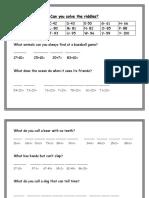math riddles answer sheet