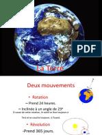 les mouvements de la terre