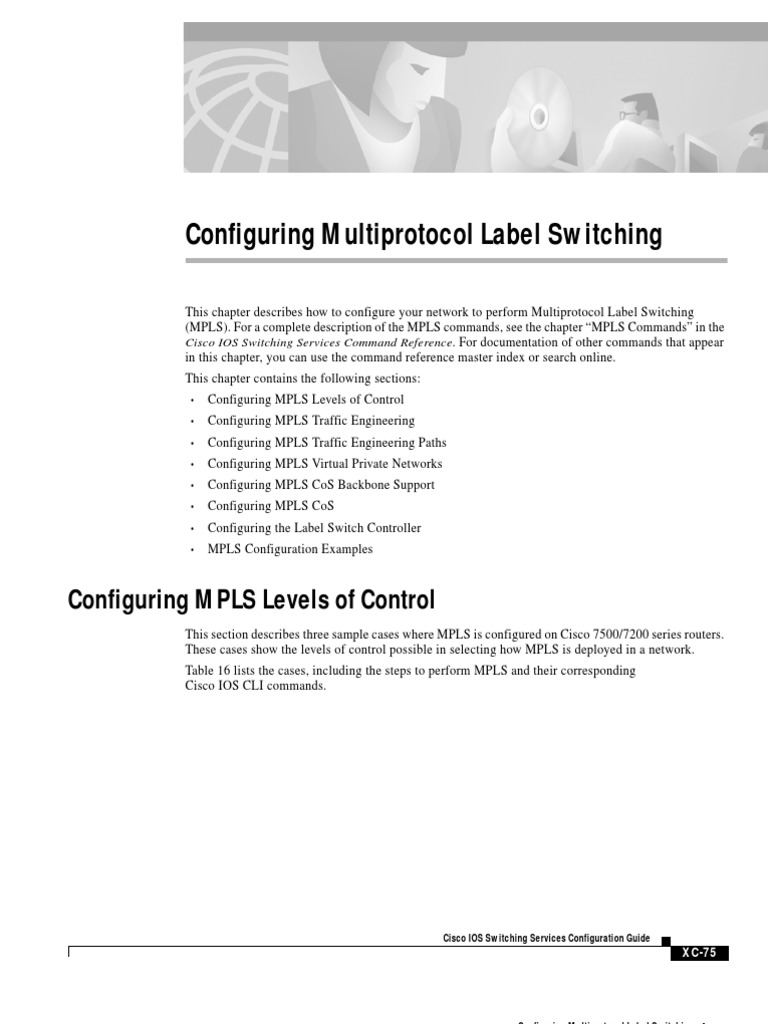 Configuring Multi Protocol Label Switching   Multiprotocol