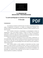 II Circular Jornada de Educación y Psicopedagogía_2019