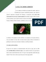 COCA COLA Y EL MEDIO AMBIENTE