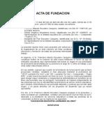 ACTA DE FUNDACION