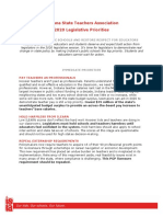 ISTA 2020 Legislative Agenda