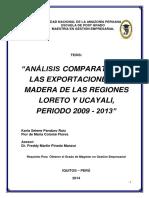 Análisis Comparativo de Las Exportaciones de Madera