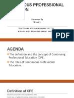 Continuous Professional Education