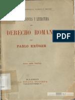 Historia del Derecho Romano Paul Kruger