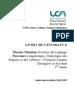 Master Sciences Du Langage 2018 2019