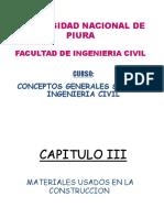 CGIC CAPITULO III-MATERIALES DE CONSTRUCCION