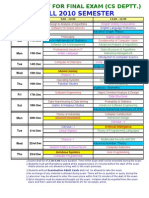 Date Sheet Final Exam CS Fall' 10