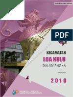 Kecamatan Loa Kulu Dalam Angka 2018
