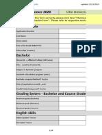 Application Form CE SoSe 20