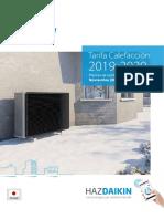 DAIKIN Calefacción Tarifa de Precios 2020
