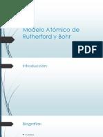 Modelo Atómico de Rutherford y Bohr