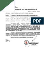 Memorandum Multiple Nº 102 - 2019 - Vacantes y Metas de Atencion II Ee PNP 2020
