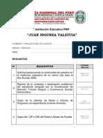 Solicitud de Continuidad de Estudios en La IE PNP Juan Ingunza Valdivia