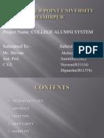 College alumni management  ppt