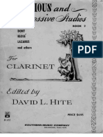 David L. Hite Book 2 - Melodius and Progressive Studies for Clarinet