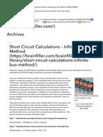 Infinite Bus Short Circuit Calculation