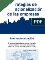 Estrategias de Internacionalización de las empresas