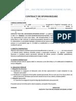 contract sponsorizare
