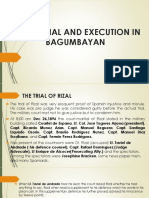 Rizal's Trial and Execution in Bagumbayan