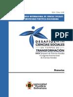 Congreso Internacional de Ciencias Sociales Upb 2013