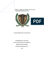 DETERMINANTES DE LA OFERTA DE VIVIENDA EN BOLIVAR - MAURO DE LA ROSA BAÑOS