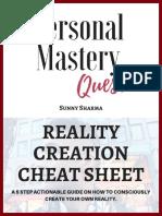 Reality Creationcheat Sheet 1