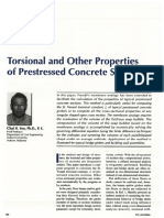 Torsional and Other Properties of Prestressed Concrete Sections