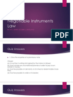 Negotiable Instruments Law Lesson 1