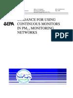 USEPA Continuous Monitoring